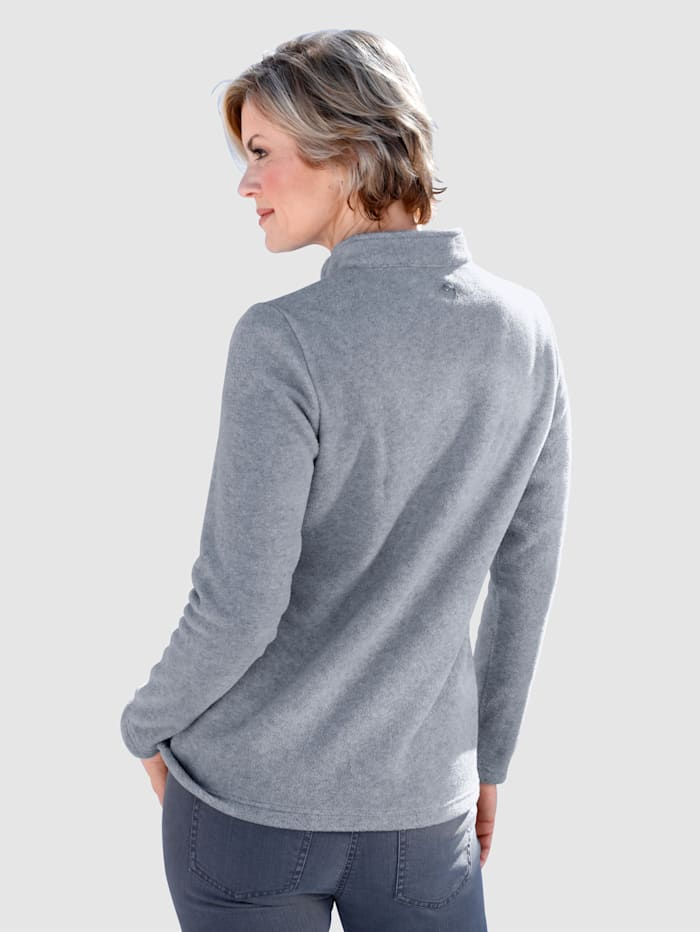 "Pull-over en polaire à broderie ""flocon de neige"""