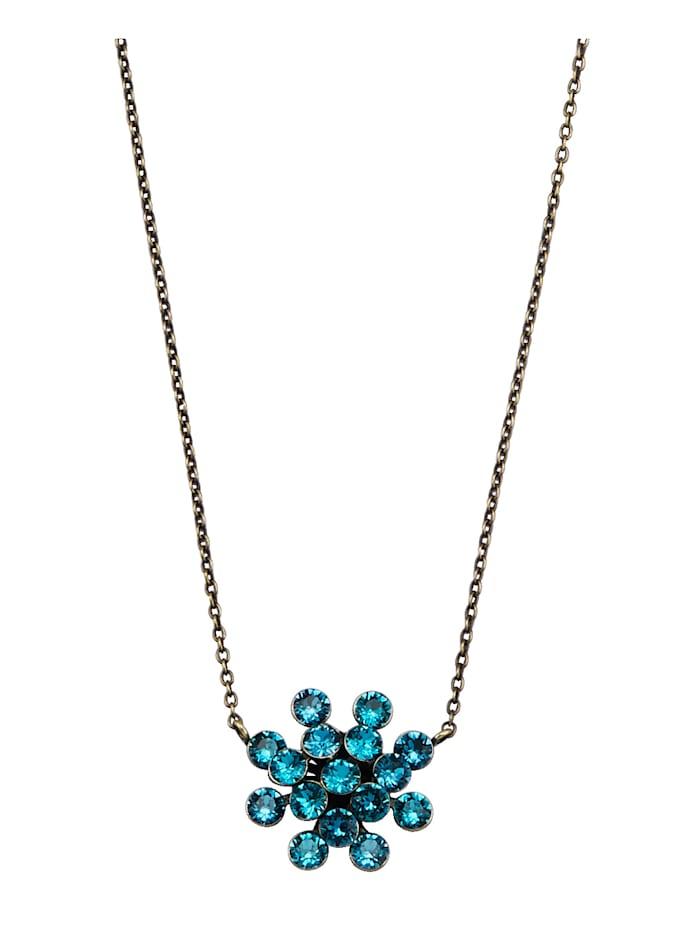 Konplott Collier mit Kristallen 5450543754536, Türkis
