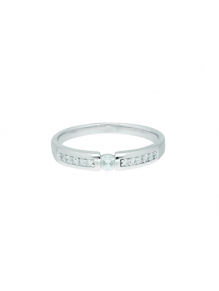 1001 Diamonds Damen Silberschmuck 925 Silber Ring mit Zirkonia, silber