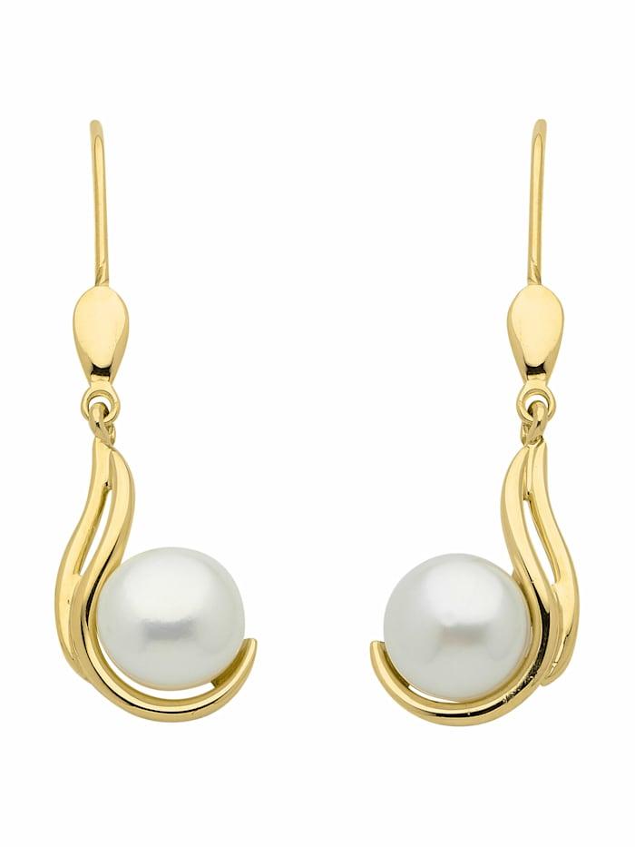 1001 Diamonds 1001 Diamonds Damen Goldschmuck 333 Gold Ohrringe / Ohrhänger mit Süßwasser Zuchtperle, gold