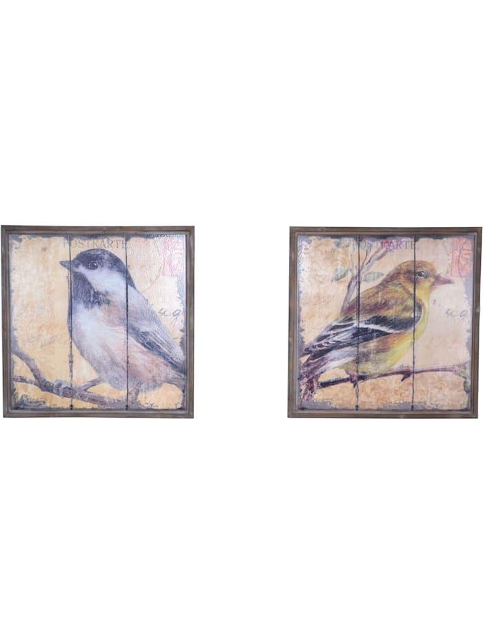 Möbel-Direkt-Online Wandbild 2-teilig mit Vogelmotiv, braun