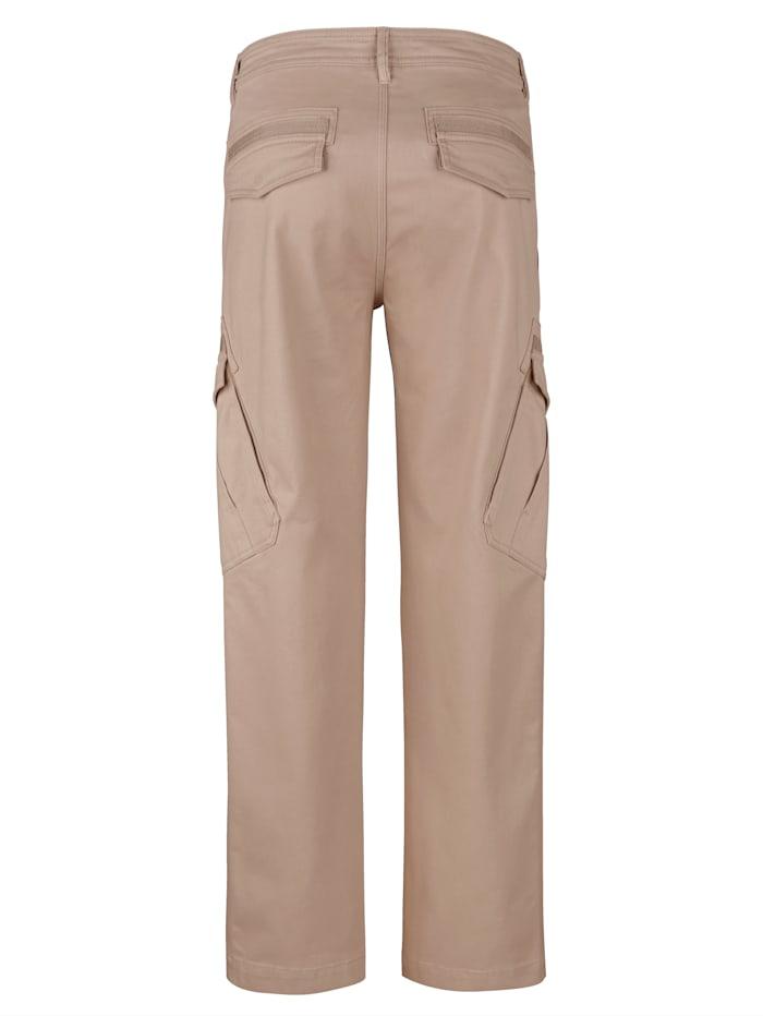 Pantalon cargo avec bande tissée aux poches
