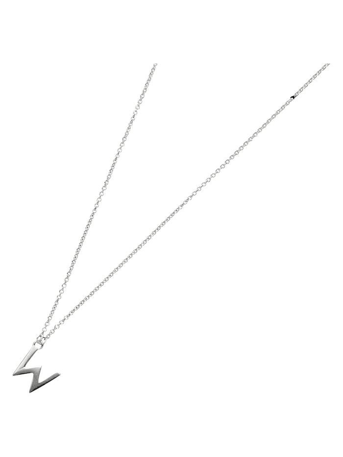Smart Jewel Collier Buchstabe W, Silber 925, Silber