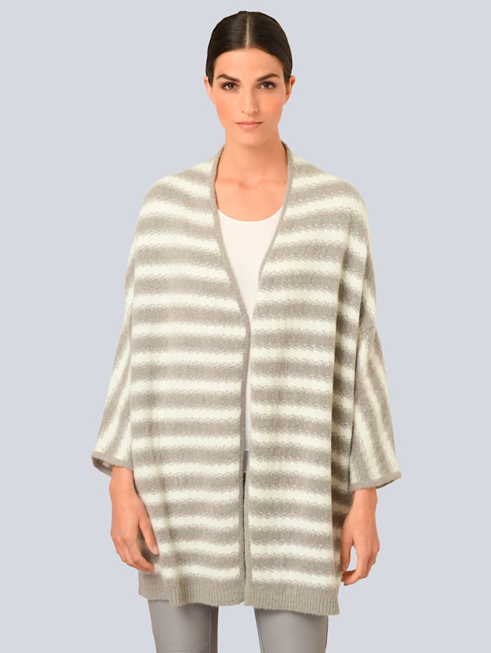Alba Moda Vest in modieus model, Lichtgrijs/Crème