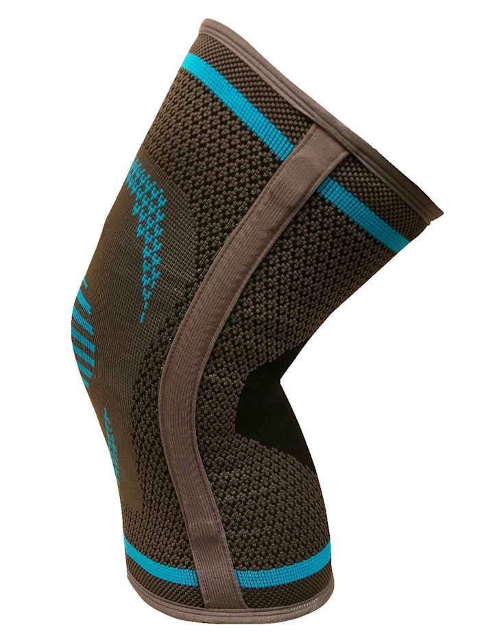 Elastische kniebandage met stabilisatorenaan de zijkanten