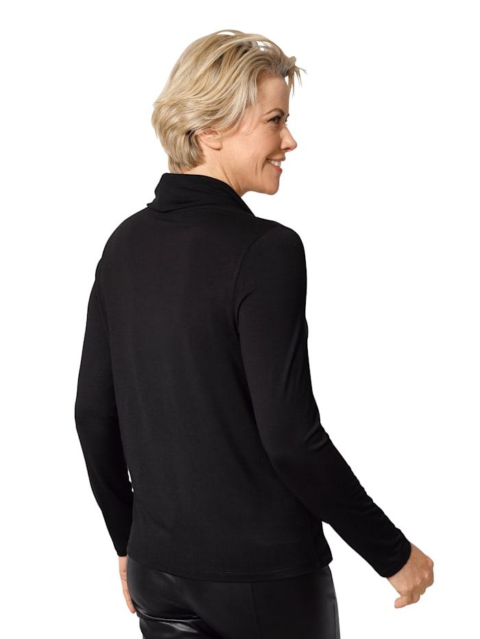 Shirt met losjesvallende col