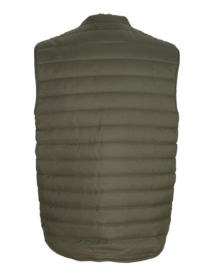 Prešívaná vesta s patentnými gombíkmi