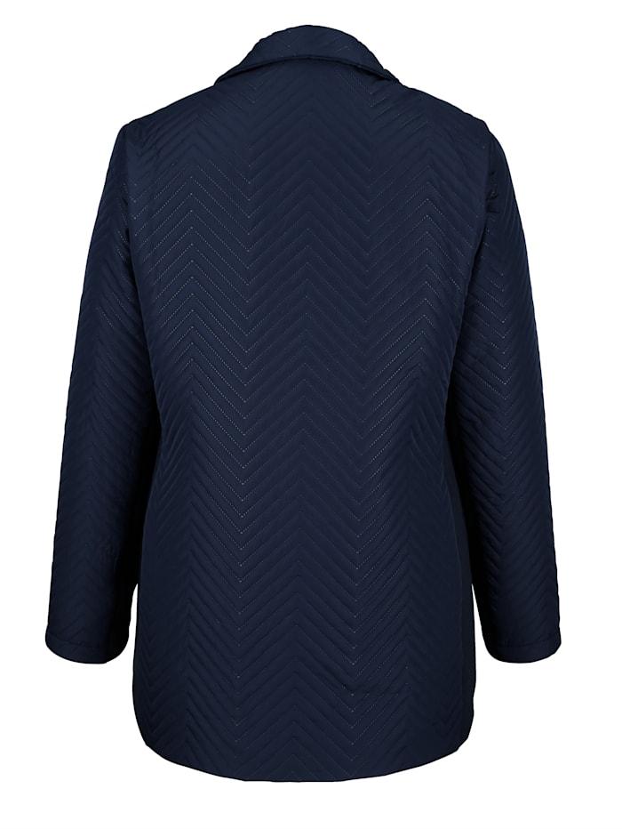 Jacke in modischem Steppdesign