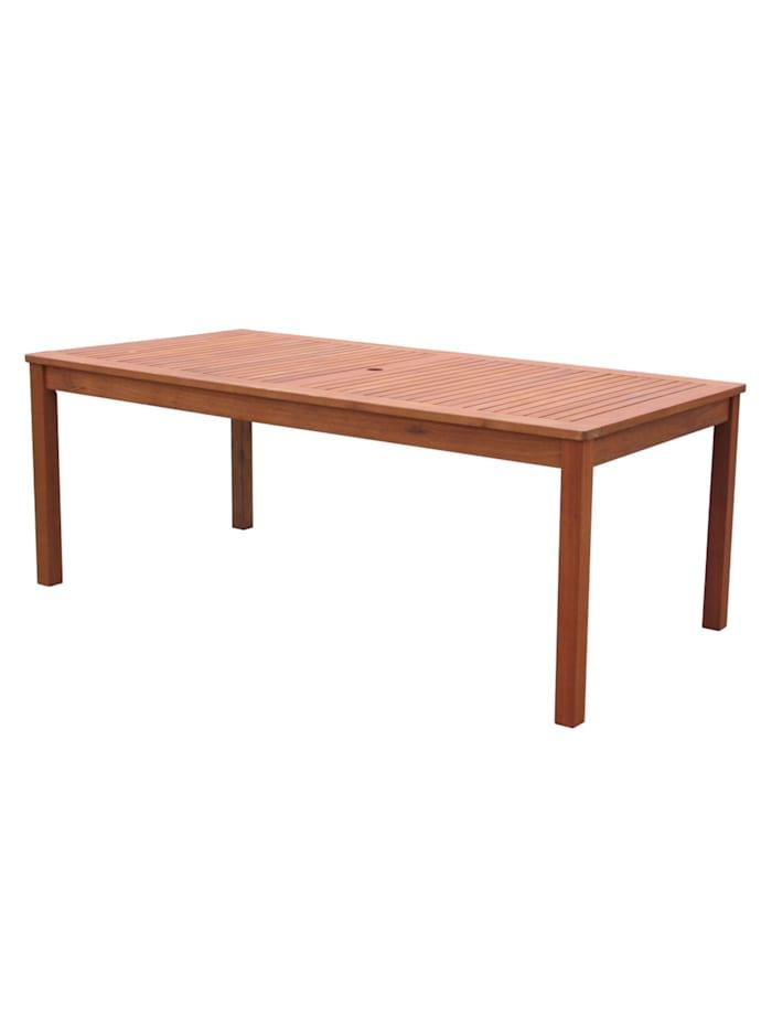 Gartentisch 160x90cm Natur Holztisch  Tisch Gartenmöbel Eukalyptus