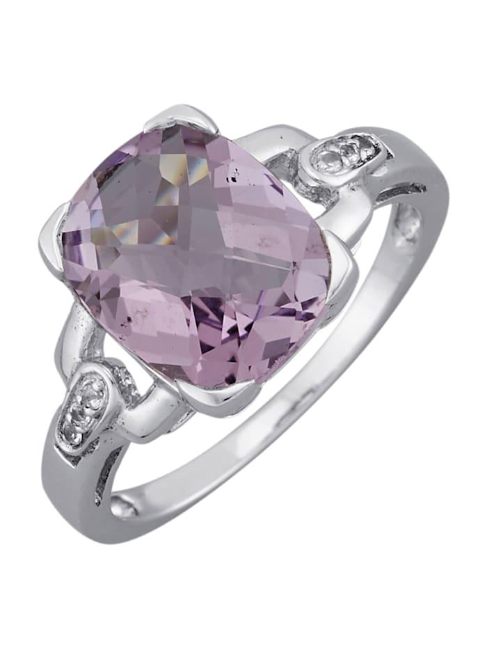 Gemondo Ring med ametist och vit topas, Lila