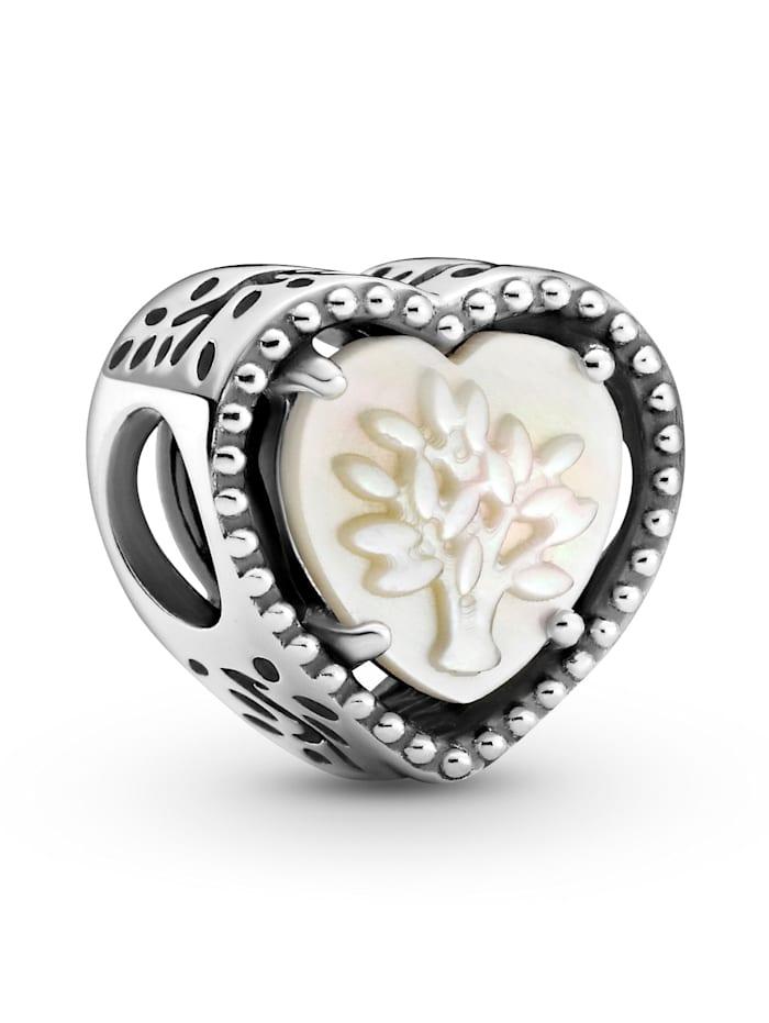 Pandora Charm - Durchbrochenes Herz & Stammbaum - 799413C01, Silberfarben