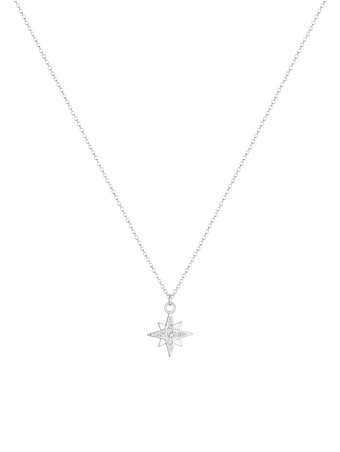 Halskette Stern Astro Basic Swarovski® Kristalle 925 Silber