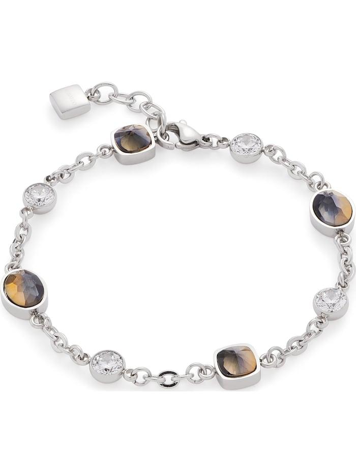 Leonardo Leonardo Damen-Armband Edelstahl 4 Glasstein, silber