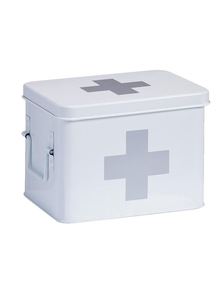 Zeller Lääkelaatikko 16 x 21,5 x 16 cm, valkoinen