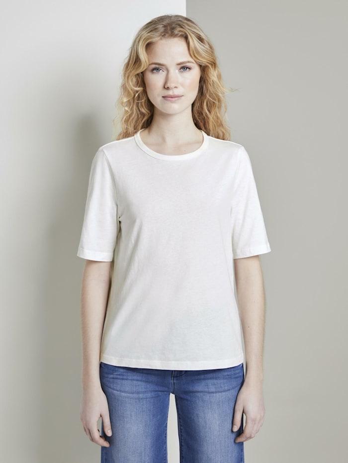 Tom Tailor Schlichtes T-Shirt, Whisper White