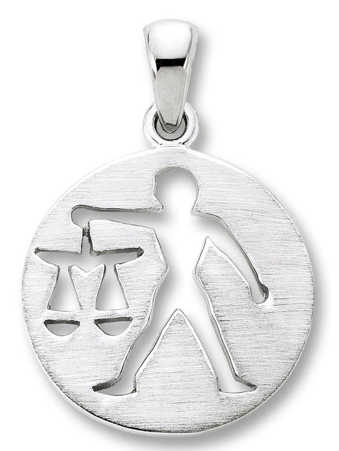 One Element Damen Schmuck Sternzeichen Anhänger Waage aus 925 Silber, silber