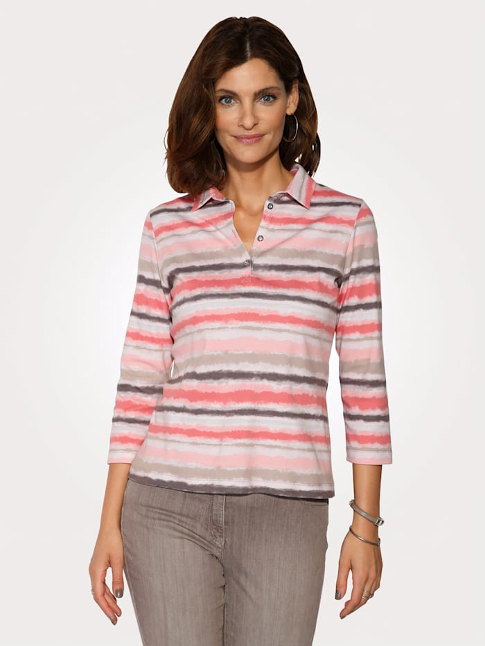 Polo shirt in striped pattern