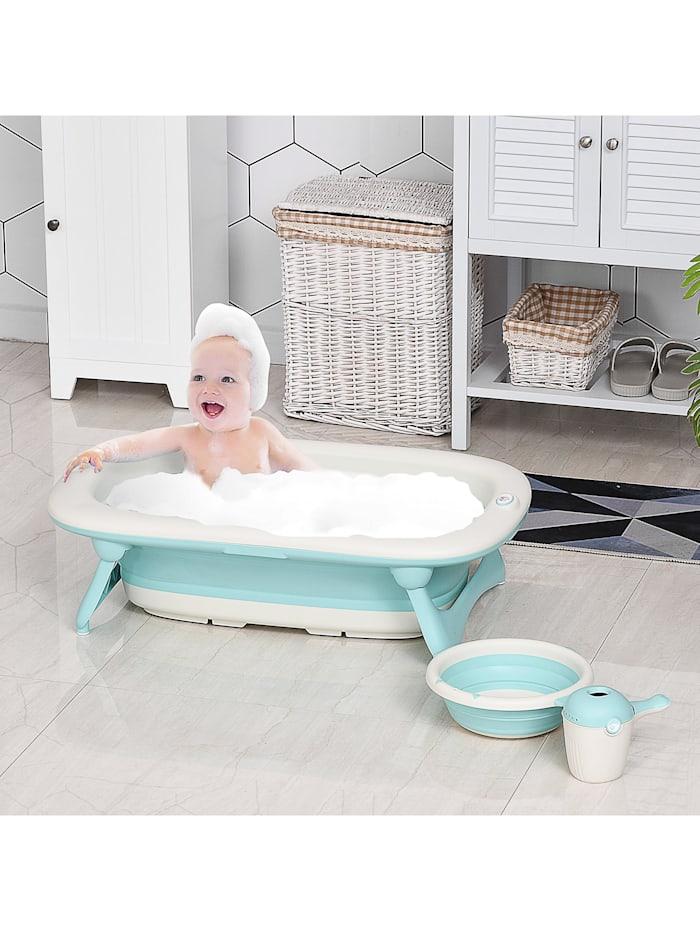 Faltbare Babywanne mit Waschbecken und Shampoobecher