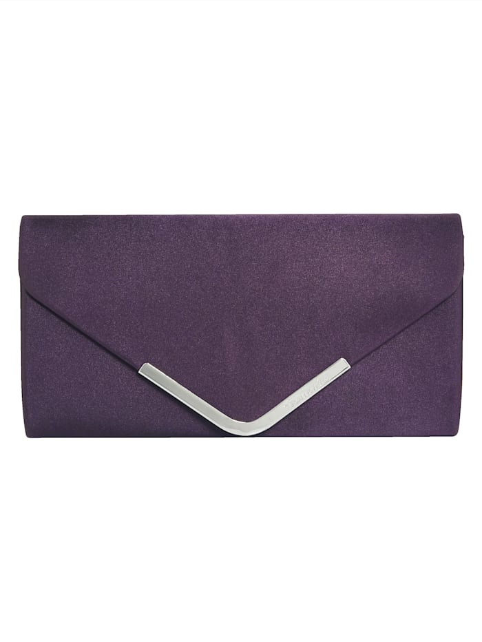 Tamaris Clutch in Satinoptik, lila
