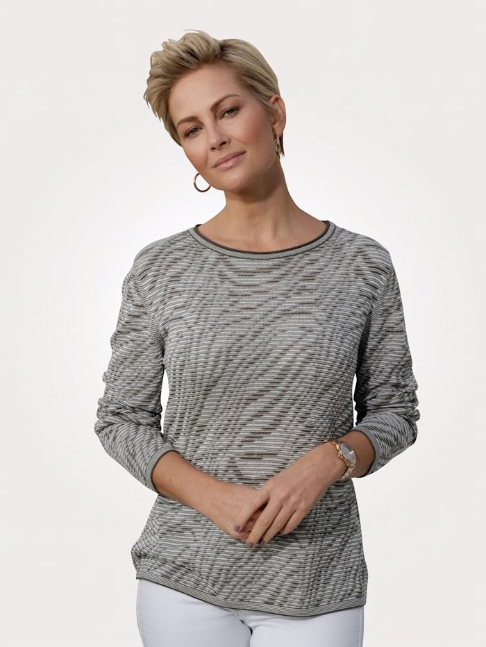 Barbara Lebek Pullover, Khaki/Ecru