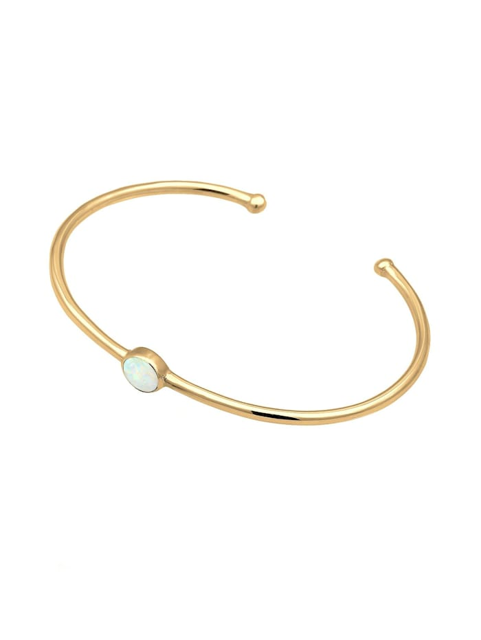 Armband Armreif Bangle Synthetischer Opal Trend 925 Silber