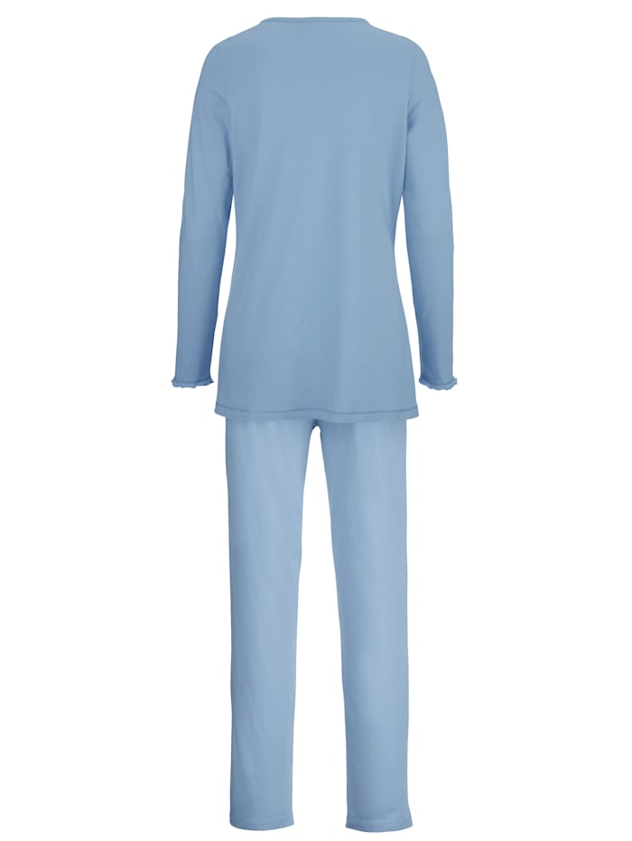 Pyjama met elastisch kant