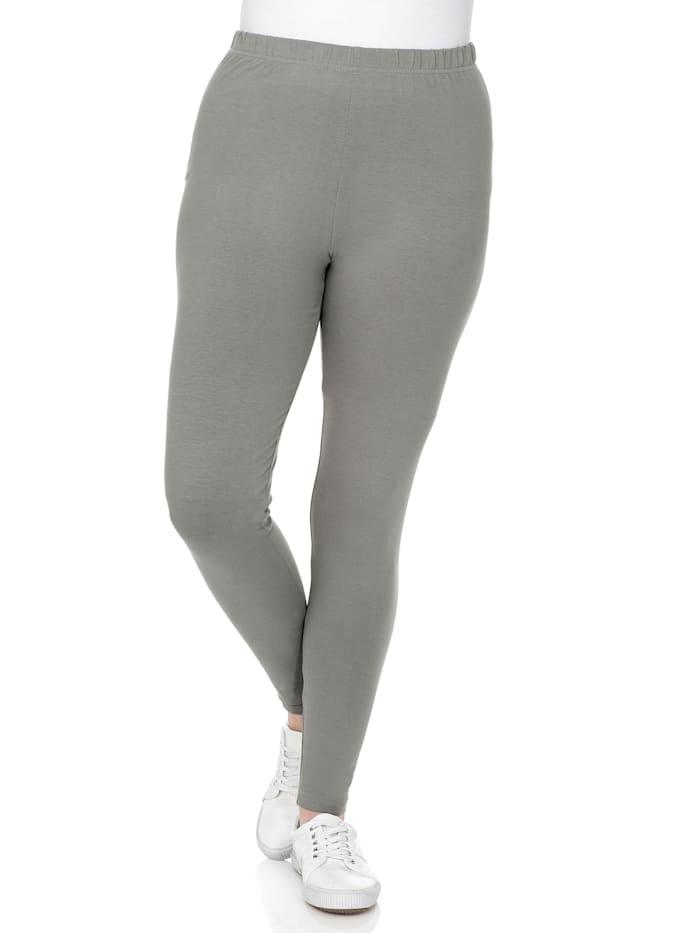 Sheego Leggings mit Gummizugbund, grau