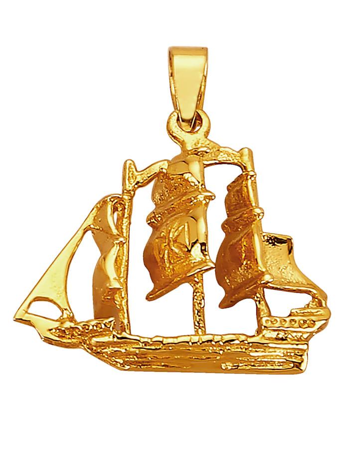 Segelschiff-Anhänger in Gelbgold