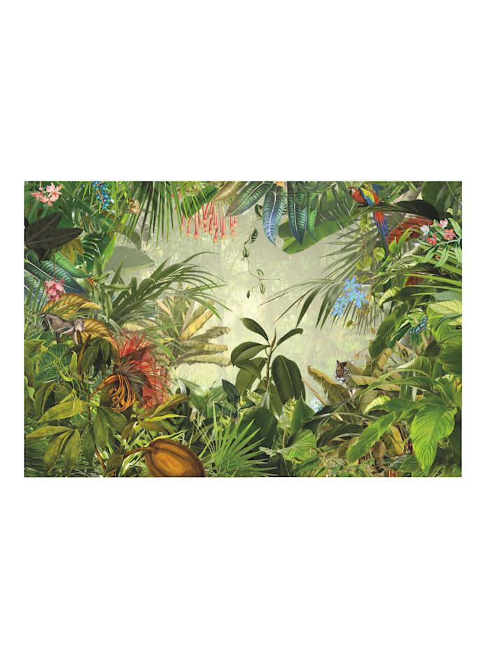 Komar Fototapete 'Dschungel', grün/bunt