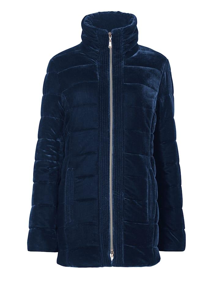 Velvet quilted jacket with a subtle shimmer