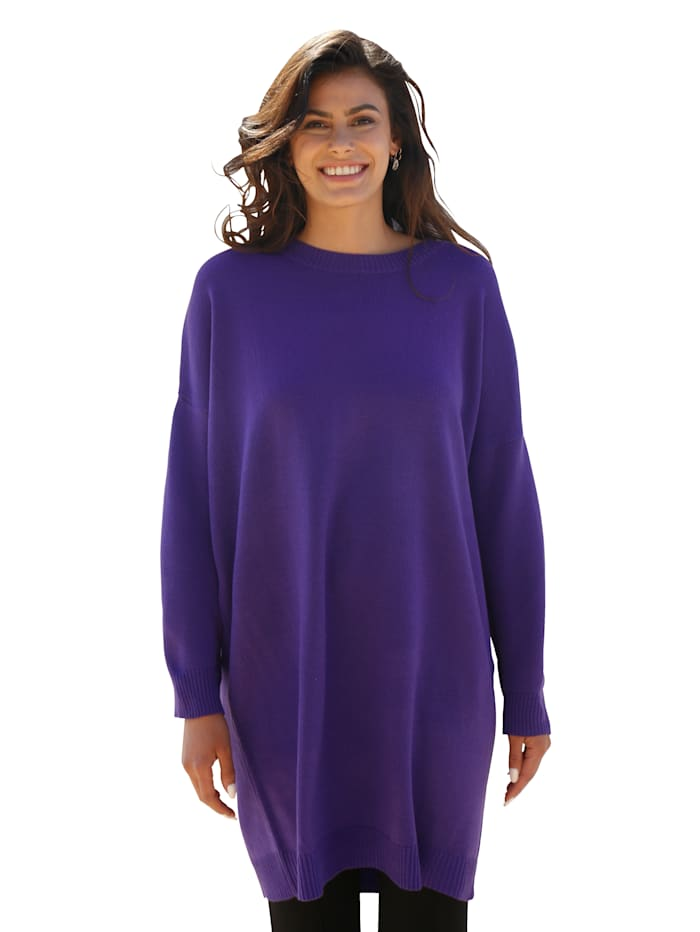 AMY VERMONT Trui in oversized model, Paars