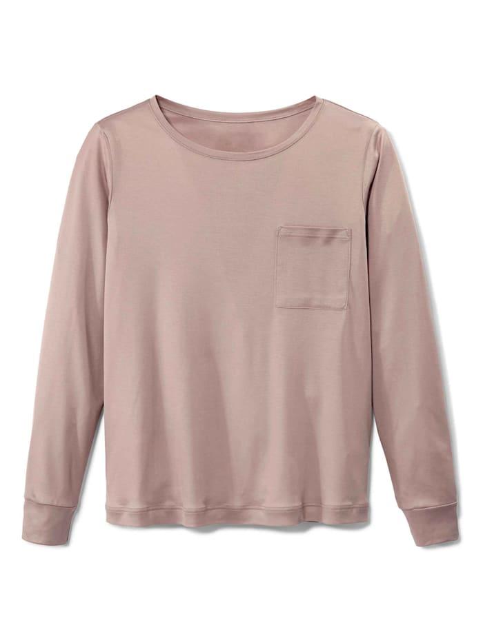 Calida Langarm-Shirt, Compostable Ökotex zertifiziert, deauville mauve