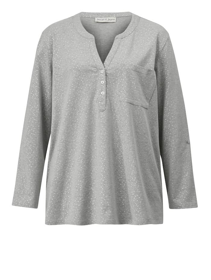 Tričko so strieborným leskom
