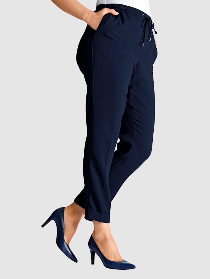 m. collection Pantalon de longueur cheville tendance, Marine
