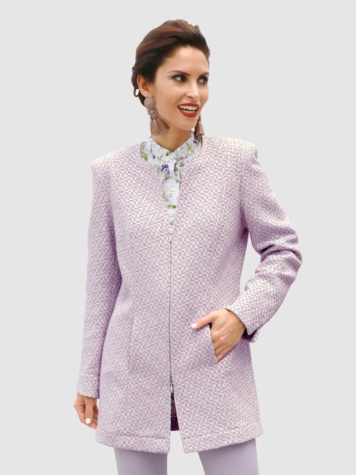 MONA Longline blazer made from jacquard, Lavender