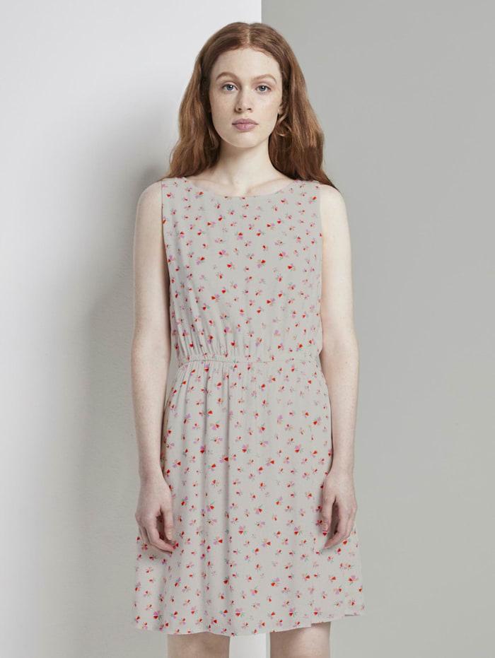 Tom Tailor Denim Ärmelloses Kleid mit Blumenmuster, light flower print