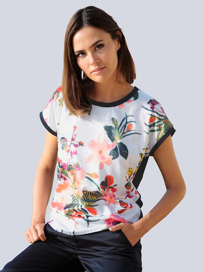 Alba Moda Shirt met satijnen voorkant, Wit