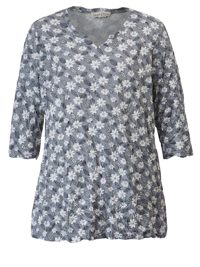 Shirt in Crinkle-Optik