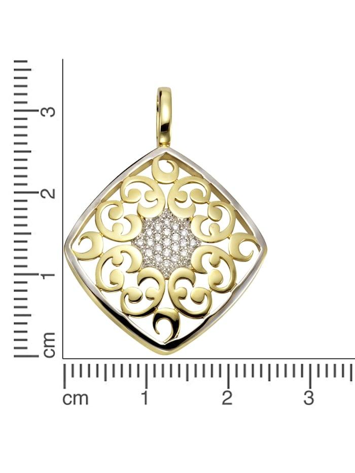 Anhänger 585/- Gelbgold Brillanten 585/- Gold Brillant weiß 3,15cm Glänzend 0,10ct