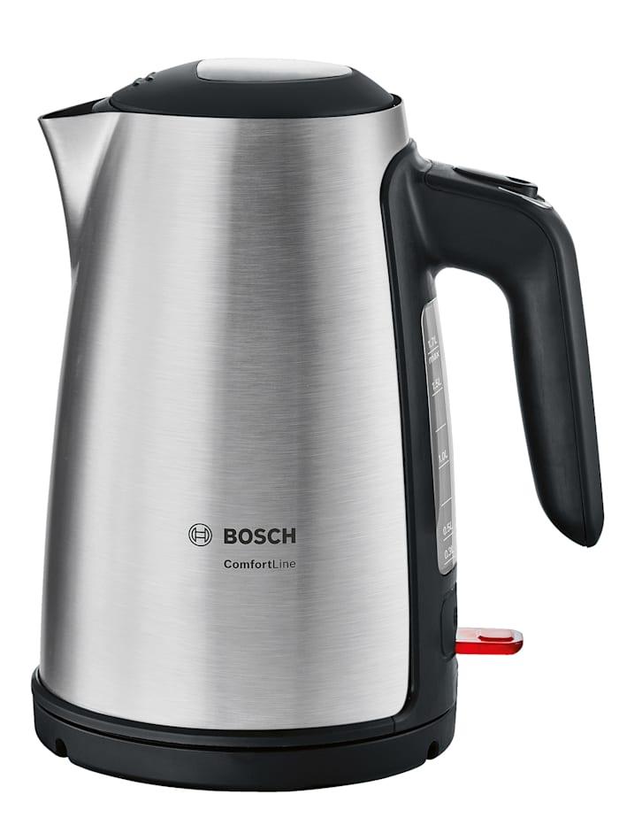 Bosch Bosch Wasserkocher kabellos TWK6A813, Edelstahlfarben/Schwarz