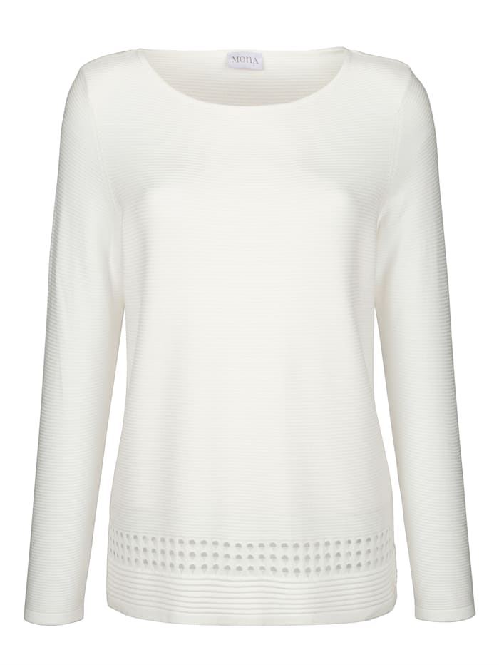 Pullover mit Ajour-Details