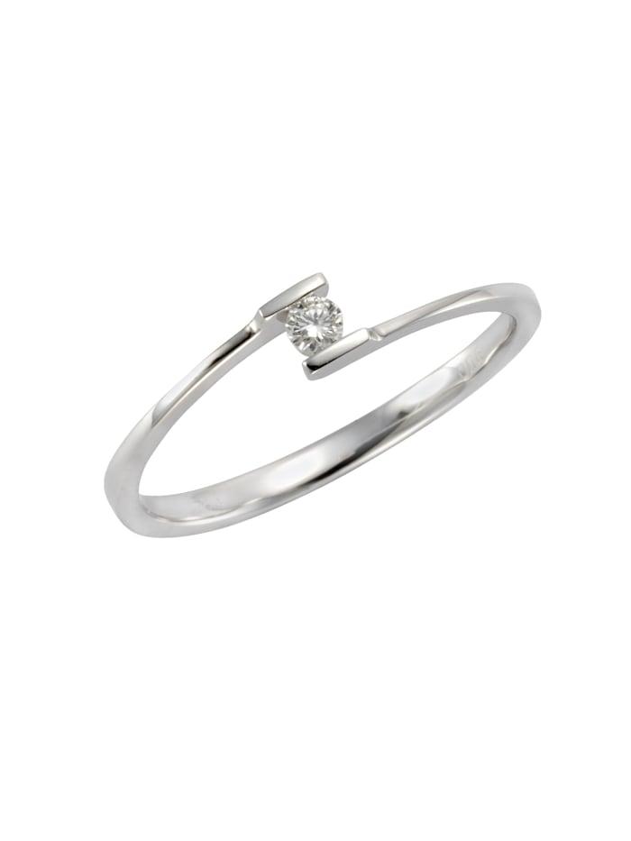 Orolino Ring 585/- Gold Brillant weiß Brillant Glänzend 0,06ct. 585/- Gold, weiß