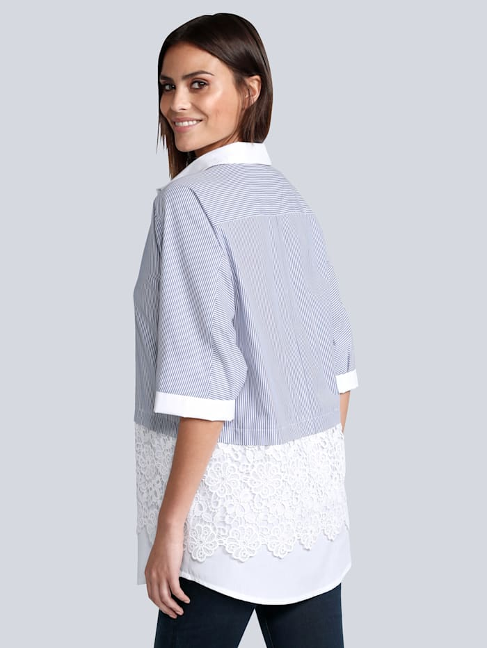 Bluse in Patch-Optik