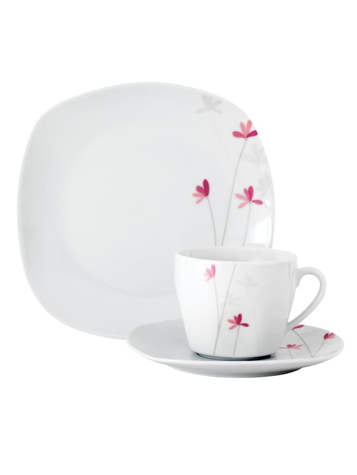 Van Well Kaffeservise i 18 deler, Hvit