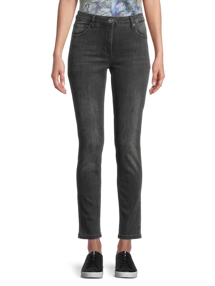 Betty Barclay Basic-Jeans mit Waschung Stone-Waschung, Grau