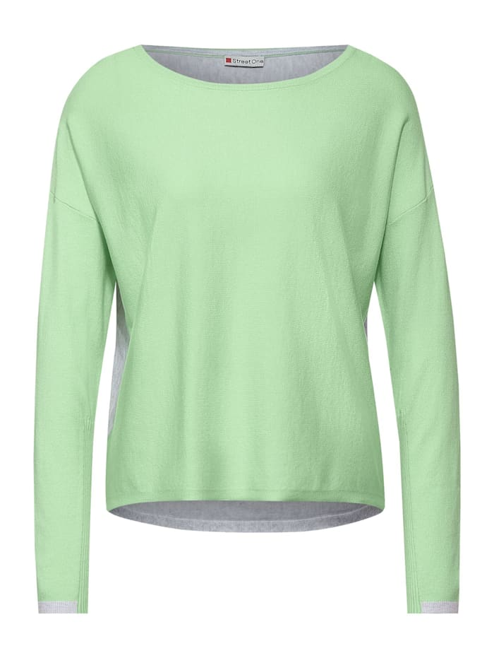 Street One Pullover mit Colourblock, frosted pistachio