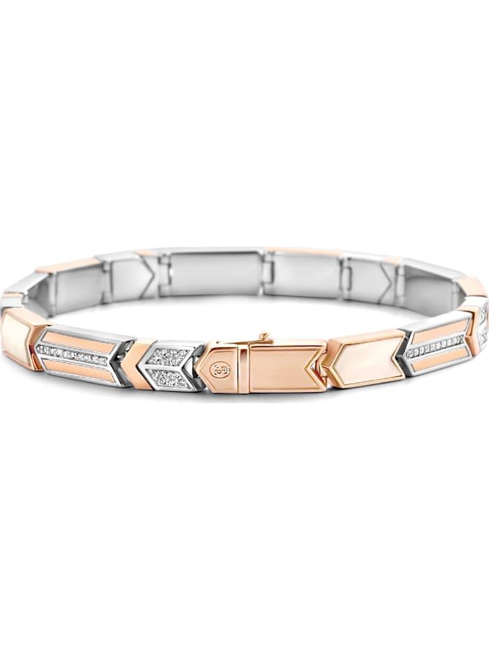 Ti Sento Milano Ti Sento - Milano Damen-Armband 925er Silber Zirkonia, roségold/weiß