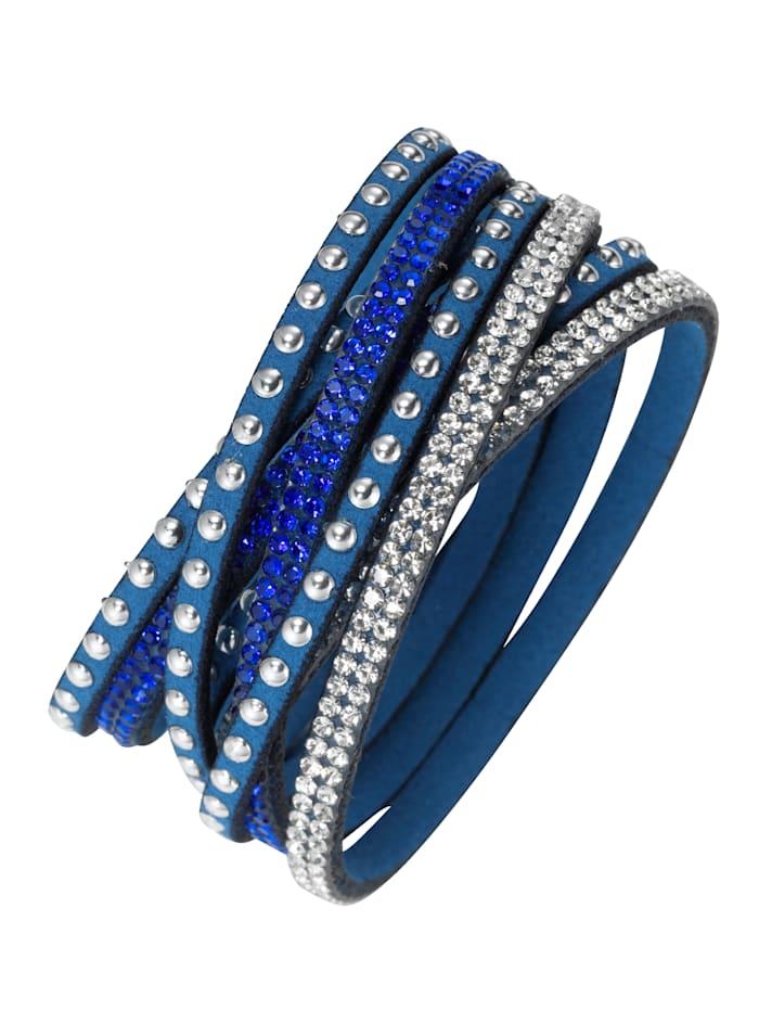 Wickelarmband, Blau