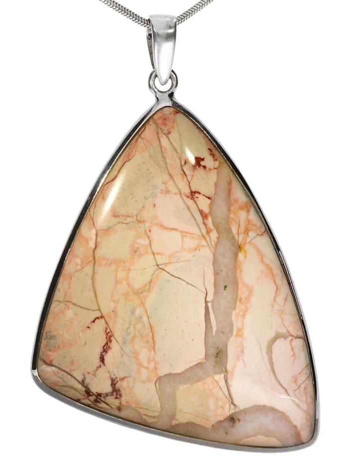 1001 Diamonds Damen Schmuck Edelstein Landschaftsjaspis Anhänger 925 Silber braun, braun