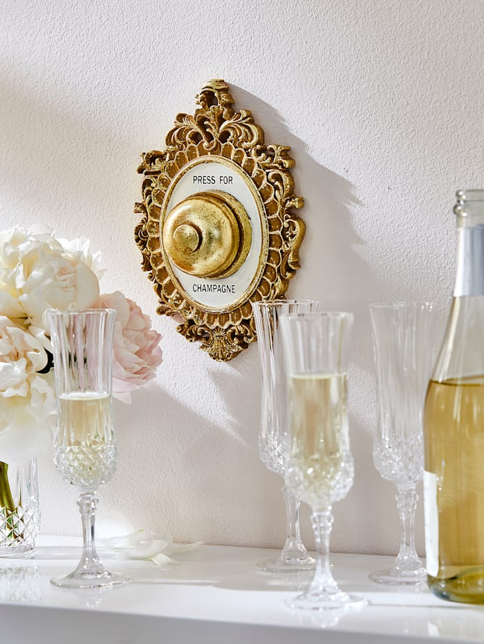 Deko-Klingel, Champagner
